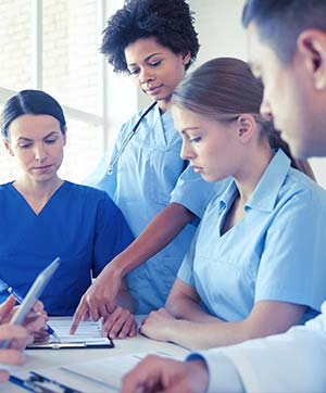 Medical Professionals discussing a patients case